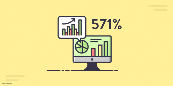SEO can grow traffic by 571%
