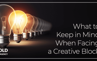 three things to help you deal with a creative block