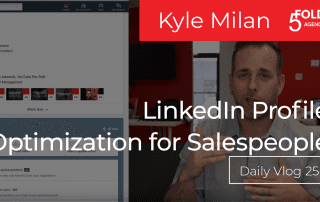 LinkedIn profile optimization for sales people